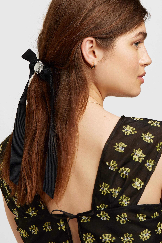 Maison Michel Doris embellished grosgrain hair tie