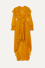 Philosophy di Lorenzo Serafini Asymmetric ruffled crepon midi dress