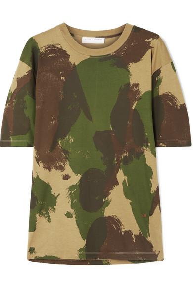 2734e4f0 Victoria Beckham | Camouflage-print cotton-jersey T-shirt | NET-A ...