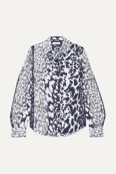 Victoria Beckham Tops Leopard-print twill shirt
