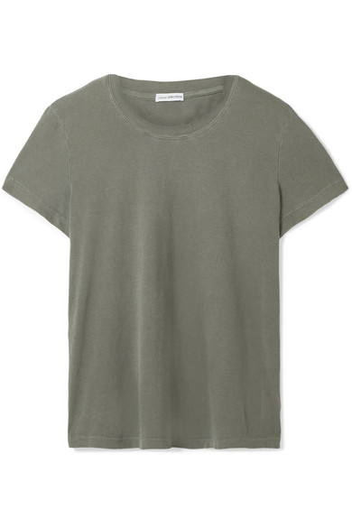 Vintage Boy Cotton-Jersey T-Shirt in Army Green