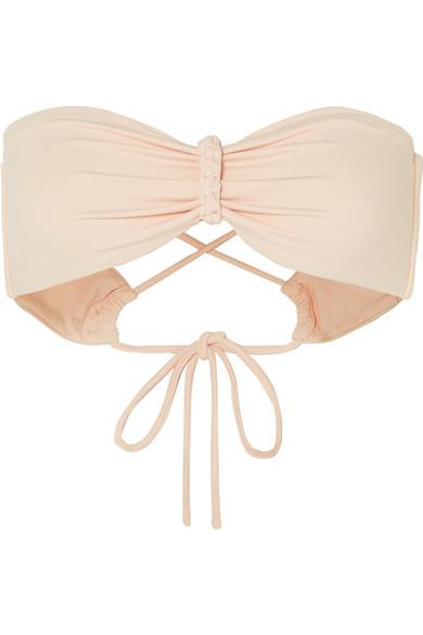BROOCHINI Toulouse Bandeau Bikini Top in Pastel Pink