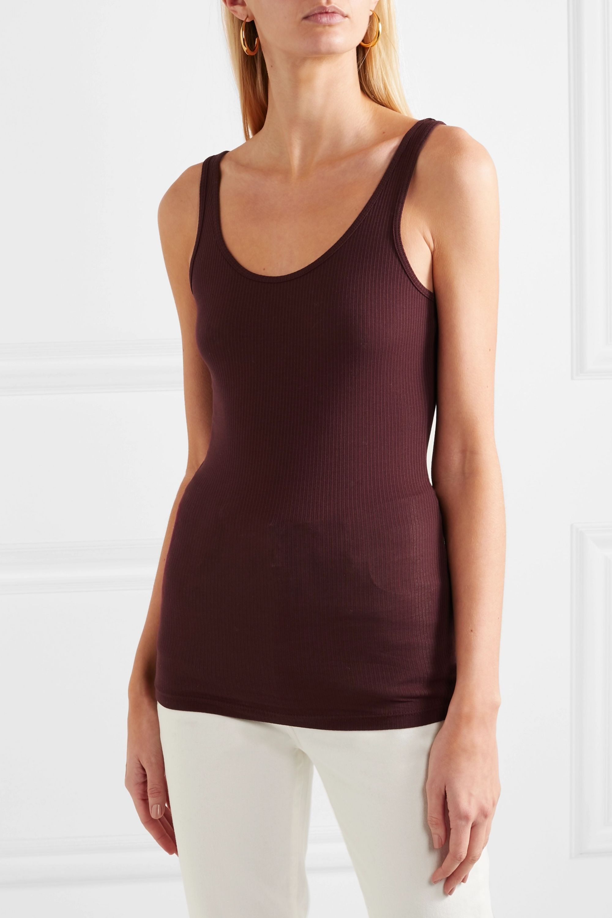 James Perse The Daily ribbed stretch-Supima cotton jersey tank