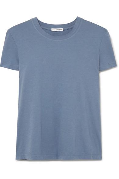 JAMES PERSE | James Perse - Vintage Boy Cotton-jersey T-shirt - Blue | Goxip