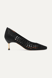 Souliers Martinez Murcia woven leather pumps