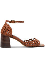 Souliers Martinez Procida woven leather sandals