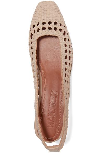 Tarragona Schuhe Leder Slingback aus flache geflochtenem MpVSUqGLz