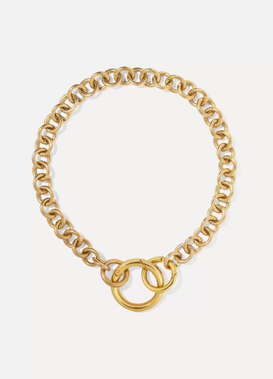 Gold Hoop Necklace