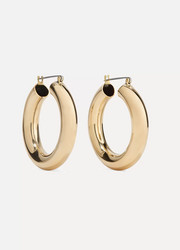 Laura Lombardi Gold-tone hoop earrings