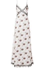 Brock Collection Onorina lace-trimmed floral-print taffeta maxi dress