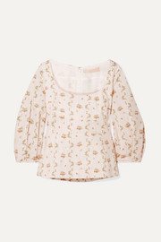 Brock Collection Orecchino floral-print cotton-poplin blouse