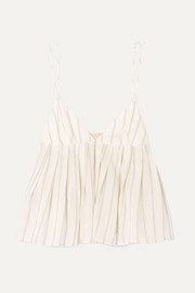 Brock Collection Ombrello striped cotton camisole