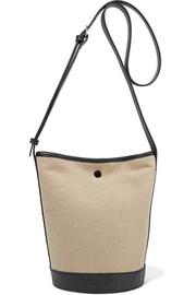 아페쎄 헬렌백, 가죽 트리밍 캔버스 숄더백A.P.C. Helene leather-trimmed canvas shoulder bag