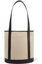 Margaux leather-trimmed canvas tote