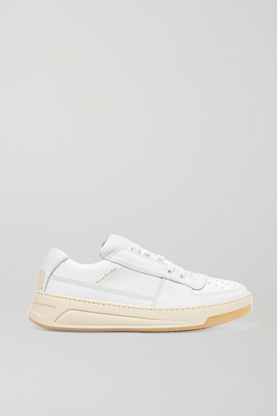 Acne Studios Logo-embossed leather sneakers