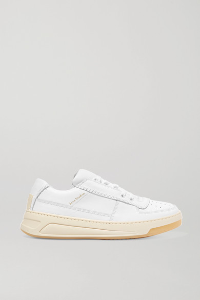 Acne Studios – Logo-embossed Leather Sneakers – White