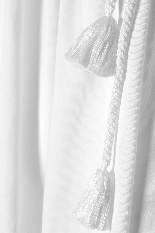 The Row Dresia Maxikleid aus Baumwoll-Jersey mit Quasten