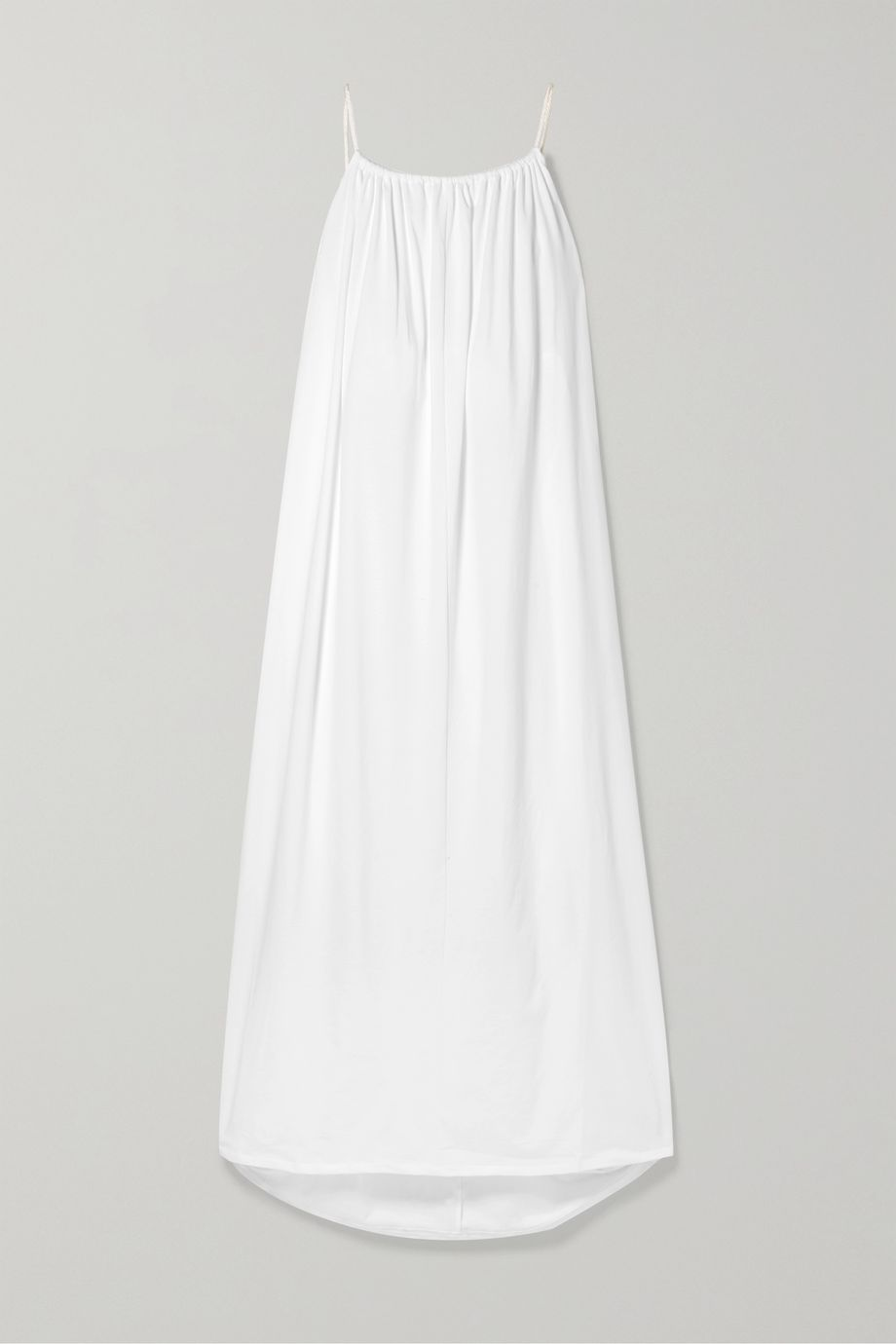 The Row Dresia oversized tassel-trimmed cotton-jersey maxi dress