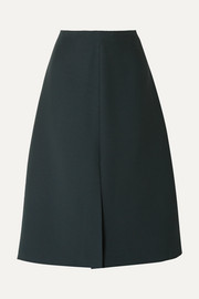 The Row Bea wool and silk-blend cady midi skirt