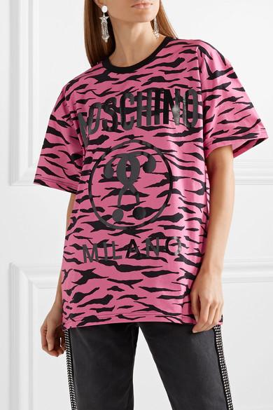 Moschino Shirts Oversized printed cotton-jersey T-shirt