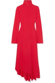 Ellery Dumont stretch-crepe turtleneck midi dress