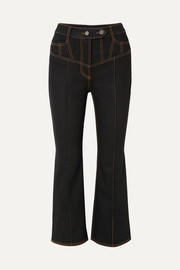 Presentism high-rise flared jeans