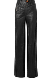 Ellery Fischer paneled leather wide-leg pants