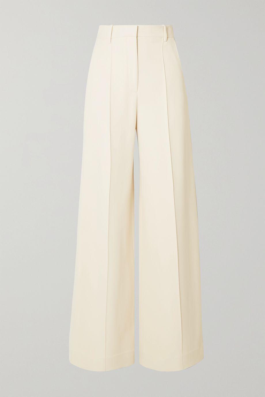 The Row Isla twill wide-leg pants
