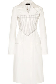 Ellery Visual Pun layered embroidered coated cotton-blend coat
