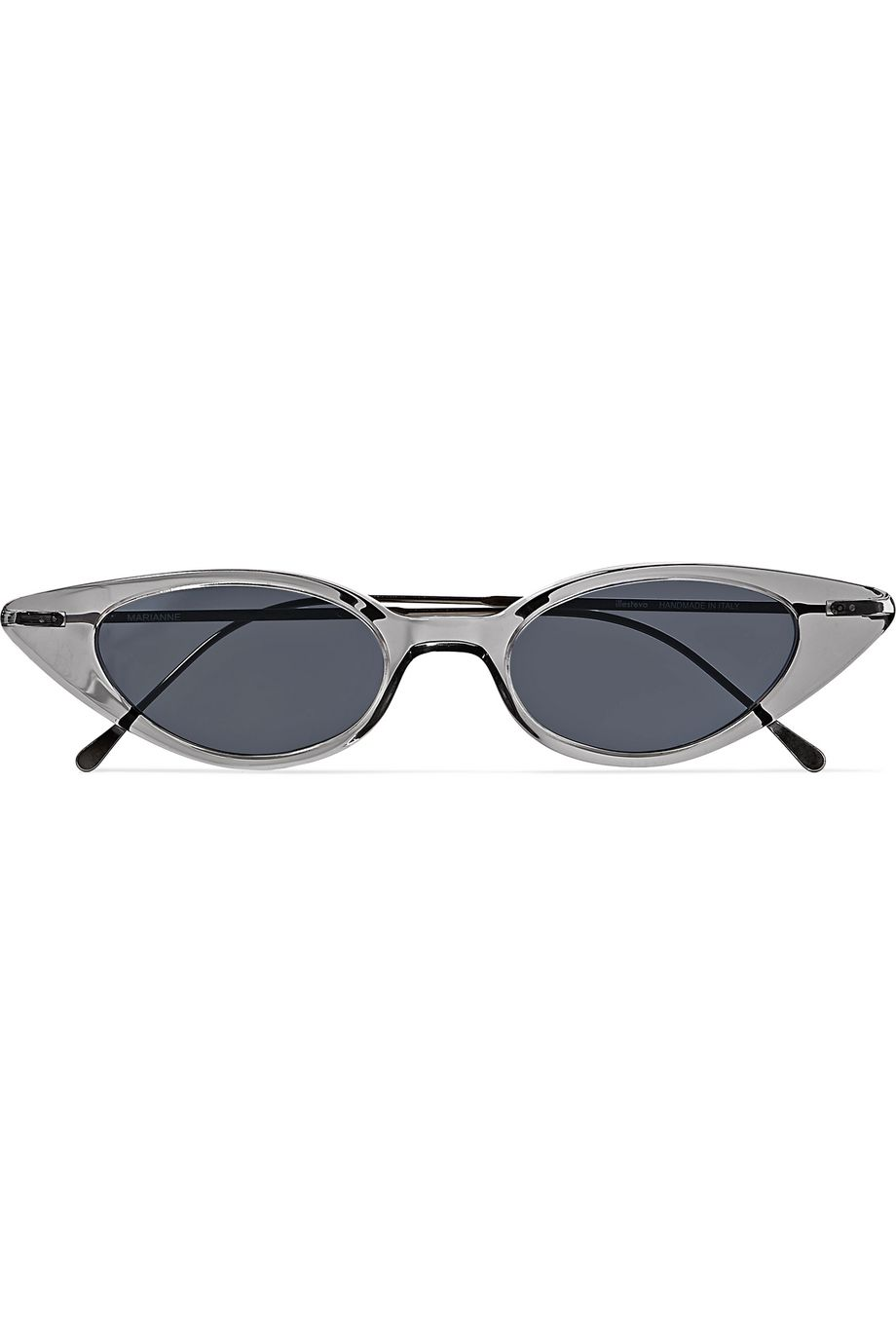 Illesteva Marianne cat-eye acetate and gunmetal-tone sunglasses