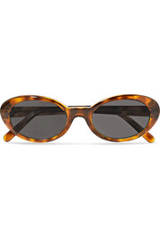 Seattle round-frame tortoiseshell acetate sunglasses