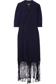 Caravana Kusam fringed cotton-gauze robe