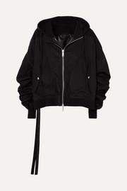 Unravel Project Hooded cotton bomber jacket