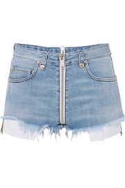 Unravel Project Distressed denim shorts