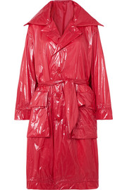 Unravel Project Belted shell raincoat