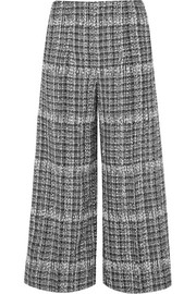 Sonia Rykiel Cropped checked bouclé pants