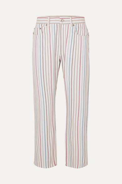 bb32e6f3f1 Sonia Rykiel | Striped high-rise jeans | NET-A-PORTER.COM