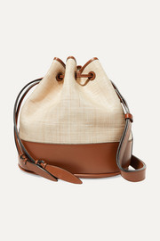 Hunting Season Raffia and leather shoulder bag