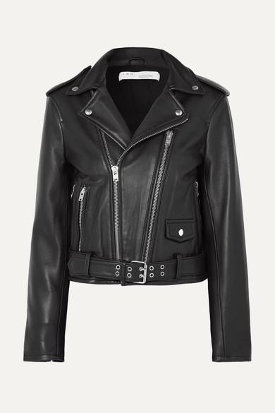IRO Illusive Leather Biker Jacket in Black