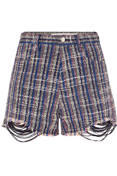 IRIEDAILY | IRO - Hearty Tweed Shorts - Blue | Goxip