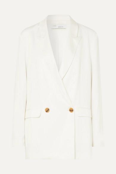 IRO Caring Oversized Crepe Blazer in White