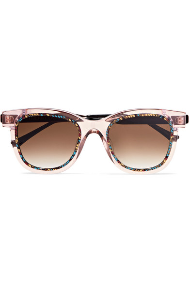 Thierry Lasry - Savvvy Cat-eye Printed Acetate And Silver-tone Sunglasses - Pink