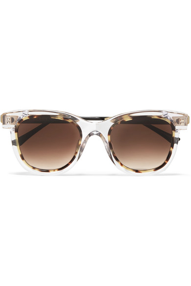 Thierry Lasry - Savvvy Cat-eye Tortoiseshell Acetate And Gold-tone Sunglasses - Clear