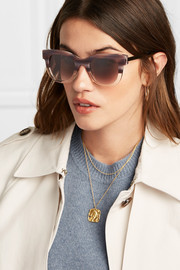 Sexxxy cat-eye acetate and gold-tone sunglasses