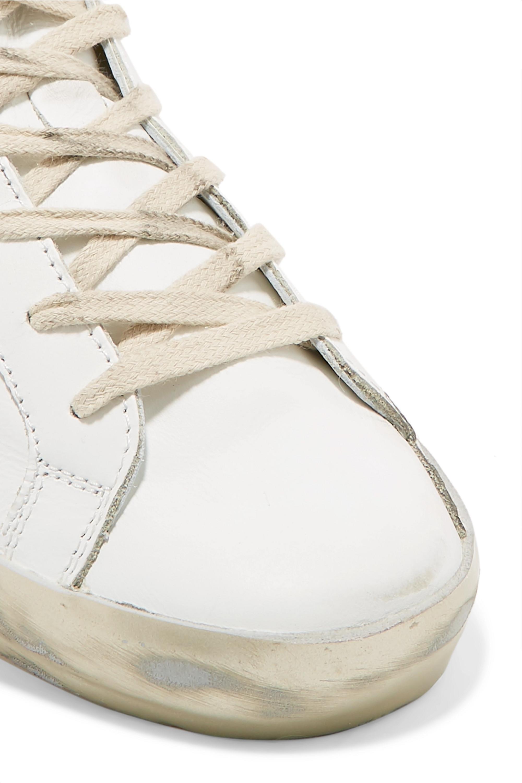 Golden Goose Baskets en cuir effet vieilli Superstar