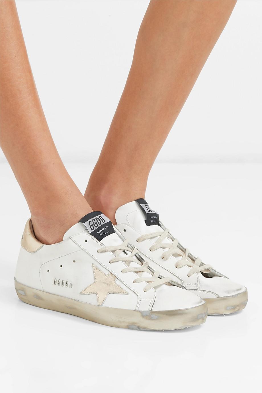 Golden Goose Superstar Sneakers aus Leder in Distressed-Optik