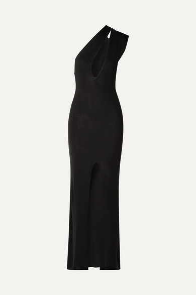 7c872609b0e Jacquemus | Azur one-shoulder cutout knitted maxi dress | NET-A-PORTER.COM