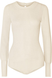 Jacquemus Stephanie ribbed-knit bodysuit
