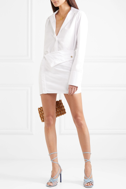 Jacquemus Folded denim mini skirt