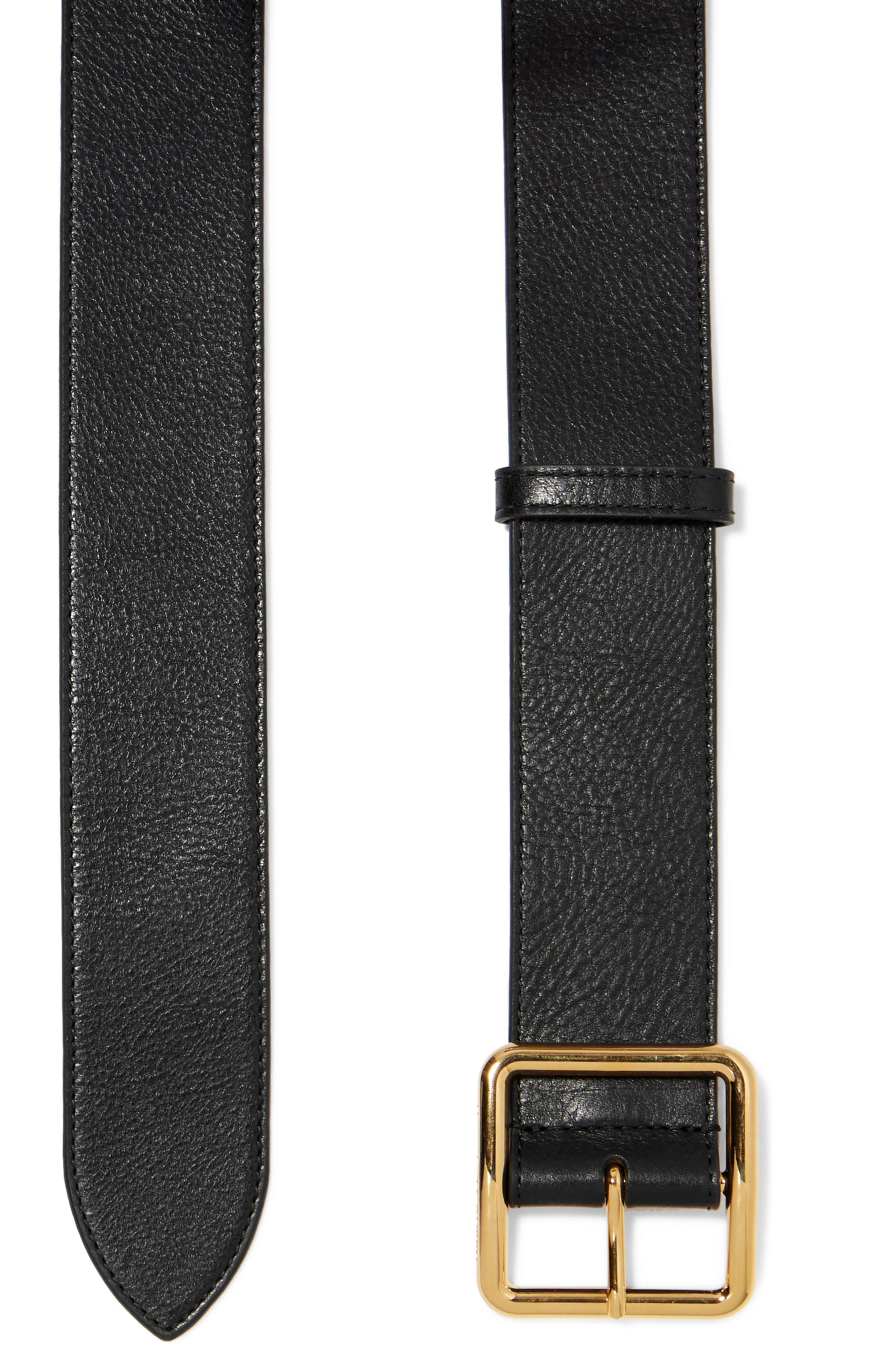 Alexander McQueen Textured-leather belt